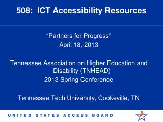 508:  ICT Accessibility Resources