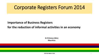 Corporate Registers Forum 2014