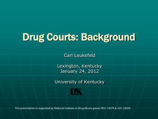 Drug Courts: Background