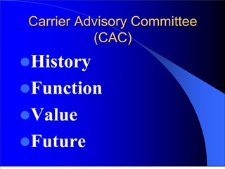 Carrier Advisory Committee CAC