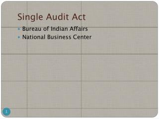 Single Audit Act