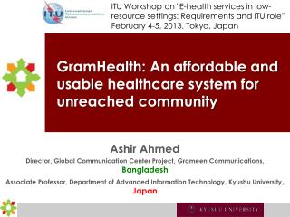 GramHealth : An affordable and usable healthcare system for unreached community