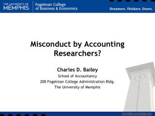 Misconduct by Accounting Researchers?