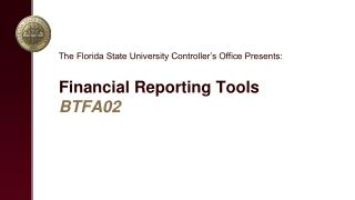 Financial Reporting Tools BTFA02