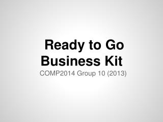 Ready to Go Business Kit
