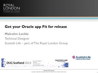 Get your Oracle app Fit for release