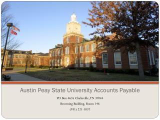 Austin  Peay  State University Accounts Payable