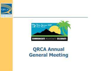QRCA Annual General Meeting