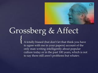 Grossberg & Affect