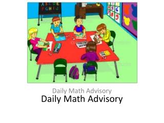 Math Advisory