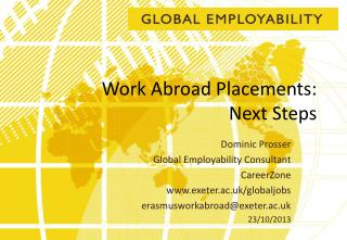 Work Abroad Placements:  Next Steps