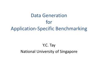 Data Generation for Application-Specific Benchmarking