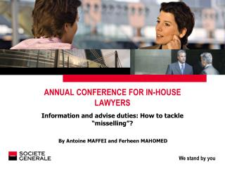 ANNUAL CONFERENCE FOR IN-HOUSE LAWYERS