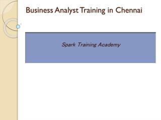 Business Analyst Training in Chennai