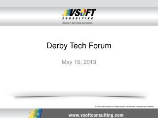 Derby Tech Forum