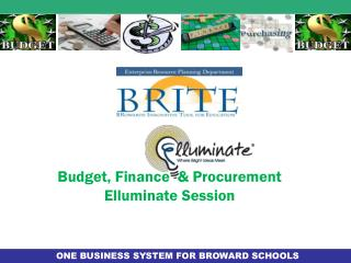 Budget, Finance  & Procurement  Elluminate  Session