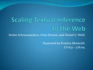 Scaling Textual Inference to the Web
