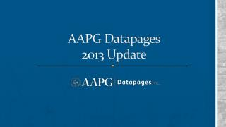 AAPG Datapages 2013 Update