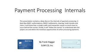 Payment Processing  Internals