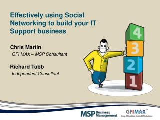 Effectively using Social Networking to build your IT Support business