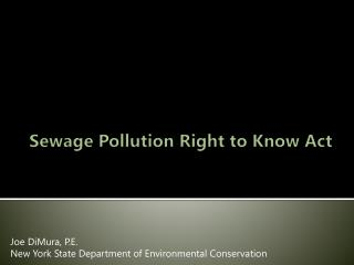 Sewage Pollution Right to Know Act