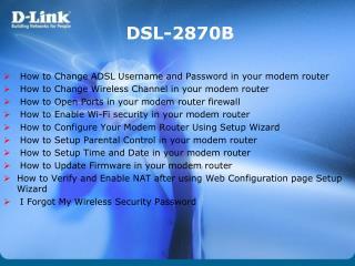 DSL-2870B