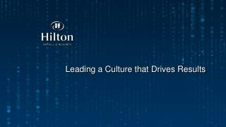 Leading  a Culture that Drives Results