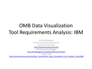 OMB Data Visualization Tool Requirements Analysis: IBM