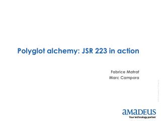 Polyglot alchemy: JSR 223 in action