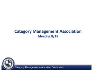 Category Management Association  Meeting  8/18