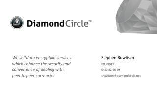 Stephen Rowlison FOUNDER 0400 82 66 69 srowlison@diamondcircle.net