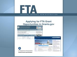 Applying for FTA Grant Opportunities in Grants.gov