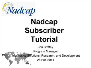 Nadcap Subscriber Tutorial