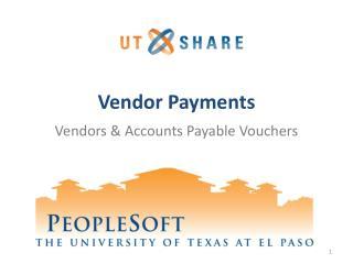 Vendor Payments