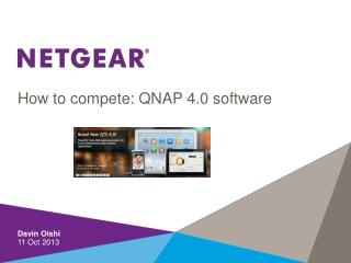 How to compete: QNAP 4.0 software