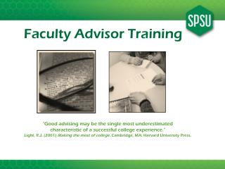 Faculty Advisor Training
