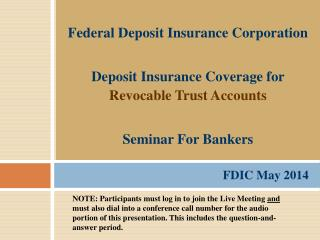 FDIC May 2014