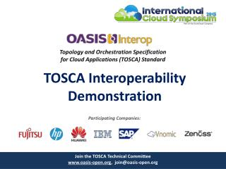 Topology and Orchestration Specification  for Cloud  Applications (TOSCA)  Standard