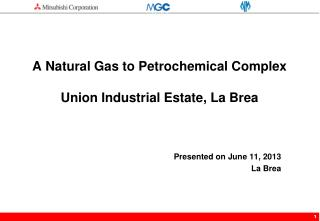 A Natural Gas to Petrochemical Complex  Union Industrial Estate, La Brea