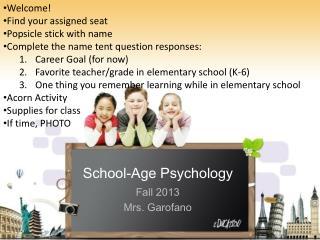 School-Age Psychology