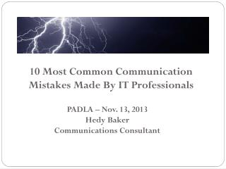 10 Most Common Communication Mistakes Made By IT Professionals