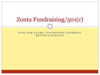 Zonta Fundraising/501(c)