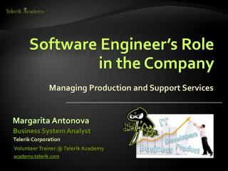 Software  Engineer's Role in the Company