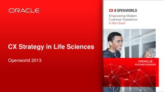 CX Strategy in Life Sciences