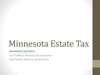 Minnesota Estate Tax