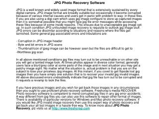 Photo Recovery, Media Recovery Software-Image Recovery Softw