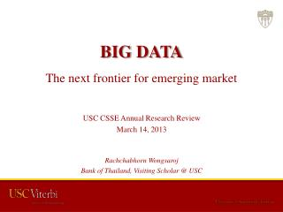 BIG DATA The next frontier for emerging market