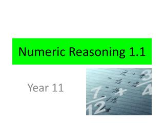 Numeric Reasoning 1.1