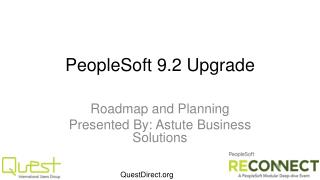 PeopleSoft 9.2  Upgrade