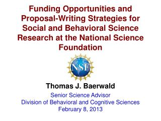 Funding Opportunities and Proposal-Writing Strategies for Social and Behavioral Science Research at the National Scienc